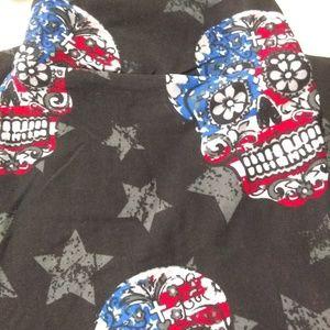 Other - American Flag Sugar skull leggings